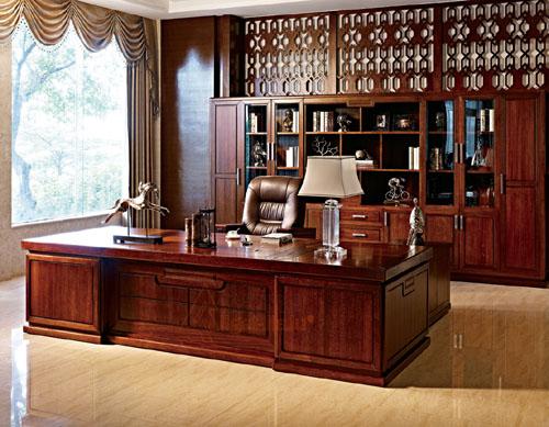 纯实木大班台,高档办公家具